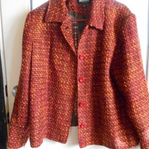 Tweed blazer great fall colors, size large